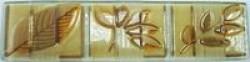Бордюр Листья стеклянный 1 249х65