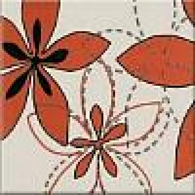 Декор Aplauz flower czerwony 1 10х10