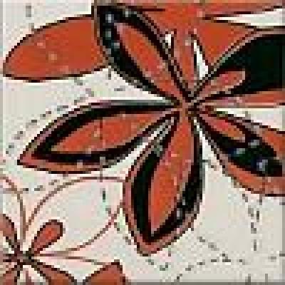 Декор Aplauz flower czerwony 2 10х10