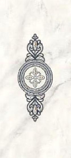 Декор Carrara медальон 20х44 серый