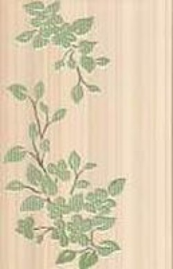 Декор Цветы 25х40 бирюзовый