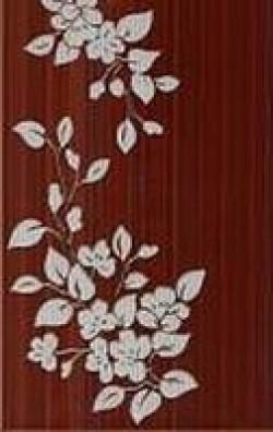 Декор Цветы 25х40 коричневый темный