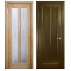 Двери «АртДеко», Коллекция «СТАЙЛ»: Модель «Эсиль-2 витраж», полотно глухое, анегри темный, венге, 400-800 мм
