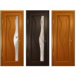 Двери «АртДеко», Коллекция «СТАЙЛ»: Модель «Нобилта», полотно глухое, анегри темный, венге, 400-800 мм