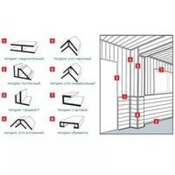 Молдинги для стеновых панелей: 055 угол внутренний