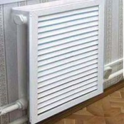 Экраны радиаторные ПВХ, белый, желтый, вишня, дуб, серый, 600 х 600