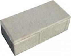 Тротуарная плитка «Кирпичик» толщиной 60 мм. серая