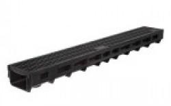 Комплект: лоток водоотводной Лайт ЛВ -10.11,5.9,5- пластиковый с решеткой стальной кл.А