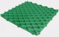 Решетка газонная РГ-60.60.4 пластиковая зеленая