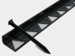 Бордюр Б-300.8,5.4.5 пластиковый черный L3000