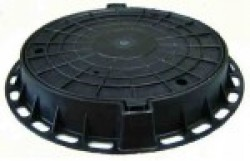 Люк канализационный пластиковый тип Л черный