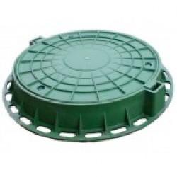 Люк канализационный пластиковый тип Л зеленый