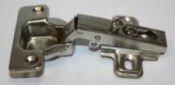 Петля-лягушка мебельная никель прямая