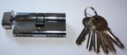 Цилиндровые мех. Антал МЦ-70-N-V-6кл. ключ/верт. 70мм. (Хром) 120/12