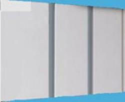 ПВХ панель серебро двухсекционная