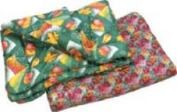 Одеяло 1,5 спальное (полиэфирное волокно, ткань верха полиэстер), стеганое