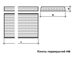 Плиты перекрытия до 4м НВ 30-10-12к