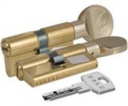 Цилиндровые мех. Кале ЦМ 164BM/62 (26х10х26)мм латунь перфокл./верт. плоская