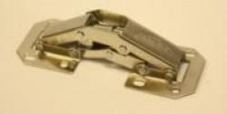 Петля-лягушка мебельная никель складная малая