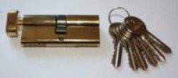 Цилиндровые мех. Антал МЦ-70-G-V-6кл. ключ/верт. 70мм. (Латунь) 120/12