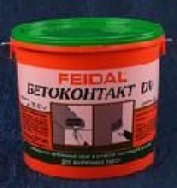 Адгезионный грунт бетоноконтакт FEIDAL BETOKONTAKT DV для внутренних работ, 5кг