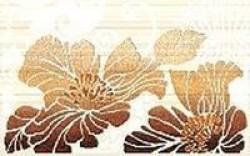 Декор Кензо фисташковый 1 25x40 коричневый