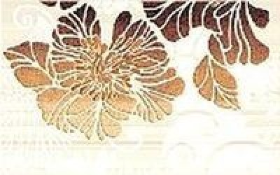 Декор Кензо коричневый 2 25x40 коричневый