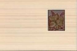 Декор Лилия терракотовый 25x40 терракотовый