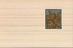 Декор Лилия фисташковый 25x40 фисташковый