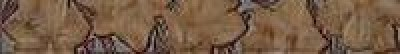 Бордюр Лилия стеклянный коричневый 6x40 коричневый