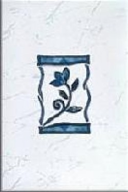 Декор Квазар синий 20х30