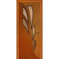 Двери «МариаМ», Модель «Орхидея» (шпон), полотно глухое, дуб комбинированный, 550-900 мм