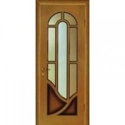 Двери «МариаМ», Модель «Мария» (шпон), полотно остекленное, дуб комбинированный, 550-900 мм
