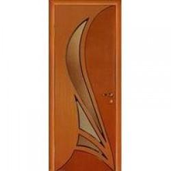 Двери «МариаМ», Модель «Корона» (шпон), полотно остекленное, дуб комбинированный, 550-900 мм