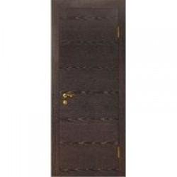 Двери «МариаМ», Модель «ДГГ поперечный» (шпон), полотно глухое, черный абрикос, 550-900 мм