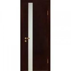 Двери «МариаМ», Модель «Дуэт» (шпон), полотно остекленное, дуб, венге, 550-900 мм