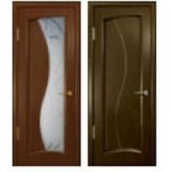 Двери «АртДеко», Коллекция «СТАЙЛ»: Модель «Смеральда», полотно глухое, анегри темный, венге, 400-800 мм