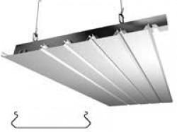 Потолок подвесной реечный «Бард»: рейка ппр-149, серебрянный металлик