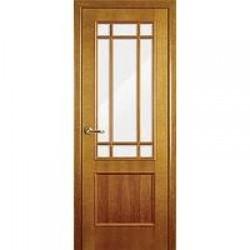Двери «Волховец», Модель «Perfecto», полотно остекленное 610, орех,  мм